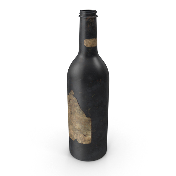 Glass: Old Bottle of Alcohol PNG & PSD Images
