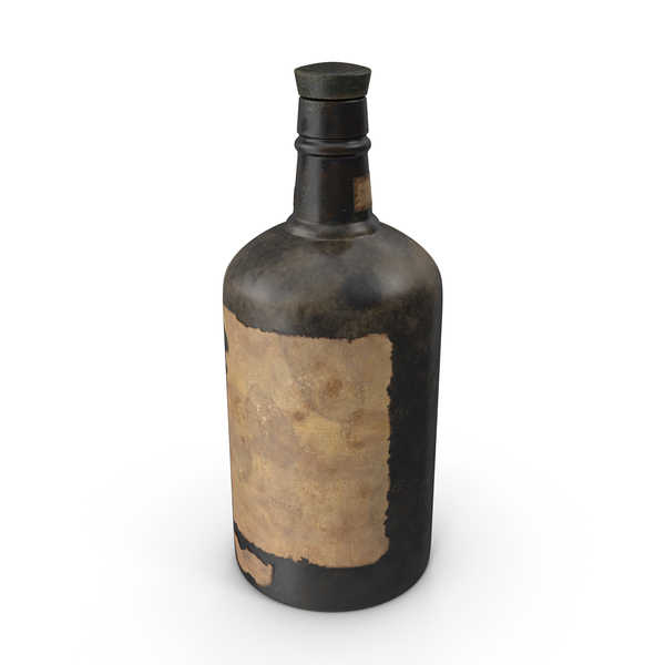 Old Bottle of Alcohol Object