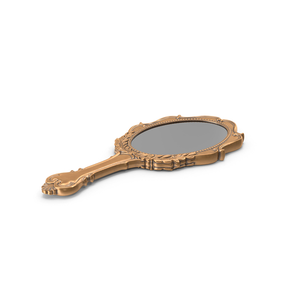Old Brass Hand Mirror PNG & PSD Images