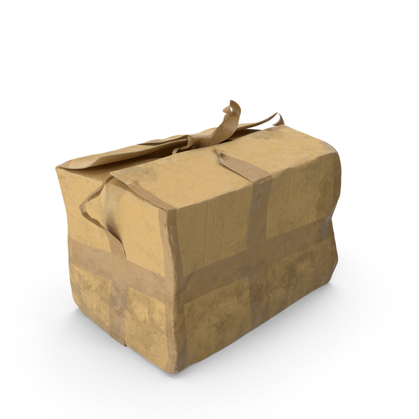 Old Damaged Cardboard Box PNG & PSD Images