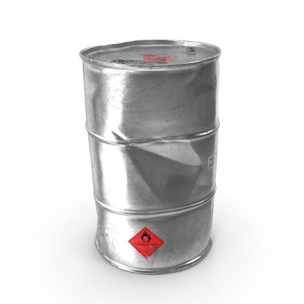 Steel: Old Ethanol Metal Barrel PNG & PSD Images
