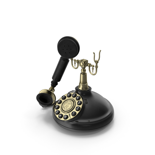 Rotary Phone: Old Fashioned Retro Telephone PNG & PSD Images