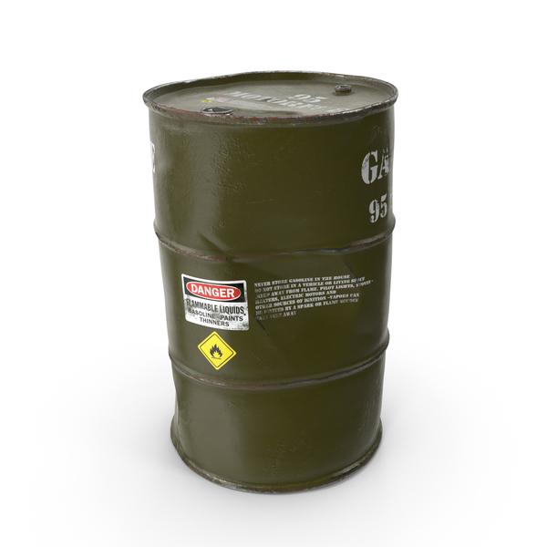 Oil Drum: Old Gasoline 95 Octane Metal Barrel PNG & PSD Images