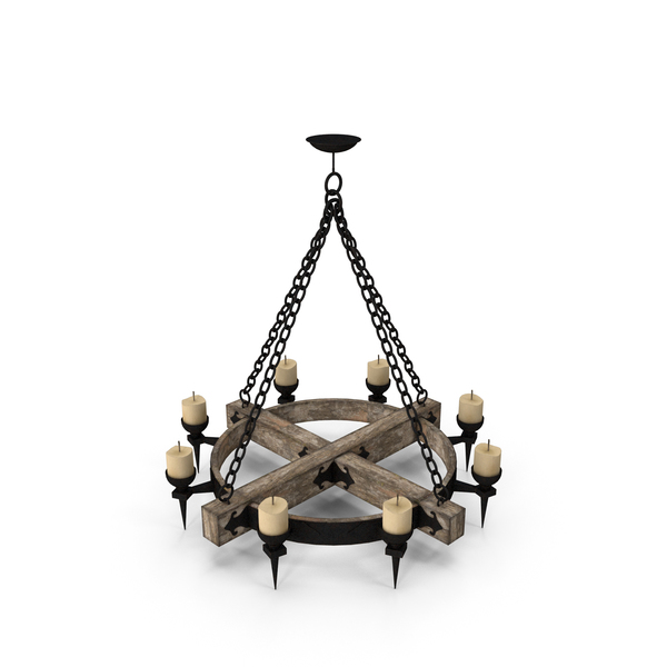 Old Medieval Chandelier PNG & PSD Images