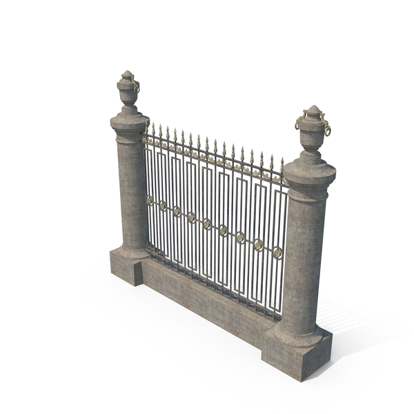 Wrought Iron: Old Ornamental Fence PNG & PSD Images