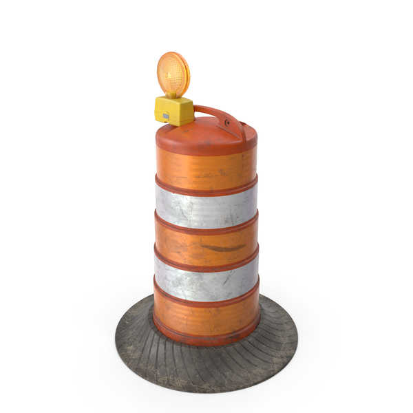 Barrel Barricade: Old Plastic Drum PNG & PSD Images