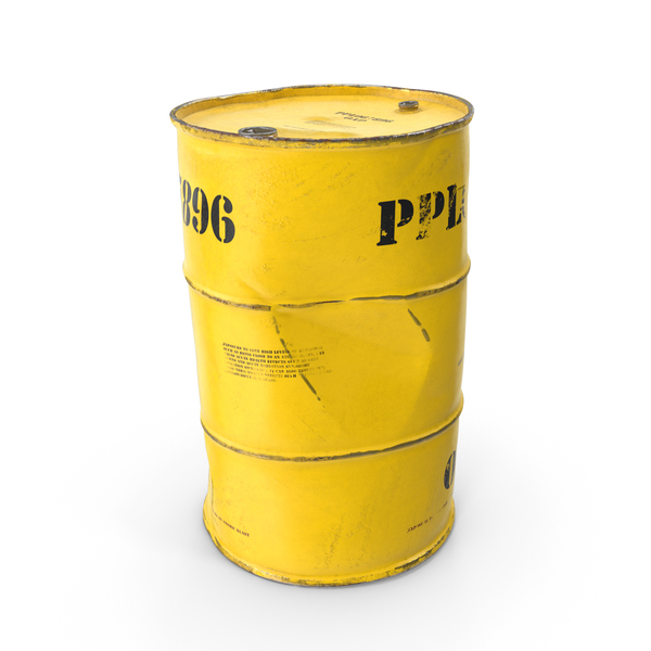 Old Radioactive Waste Barrel PNG & PSD Images