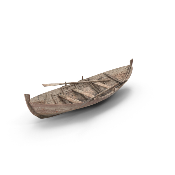 Old Row Boat Object