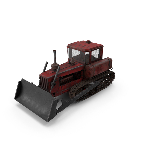 Old Rusty Soviet Crawler Tractor DT-75 PNG & PSD Images