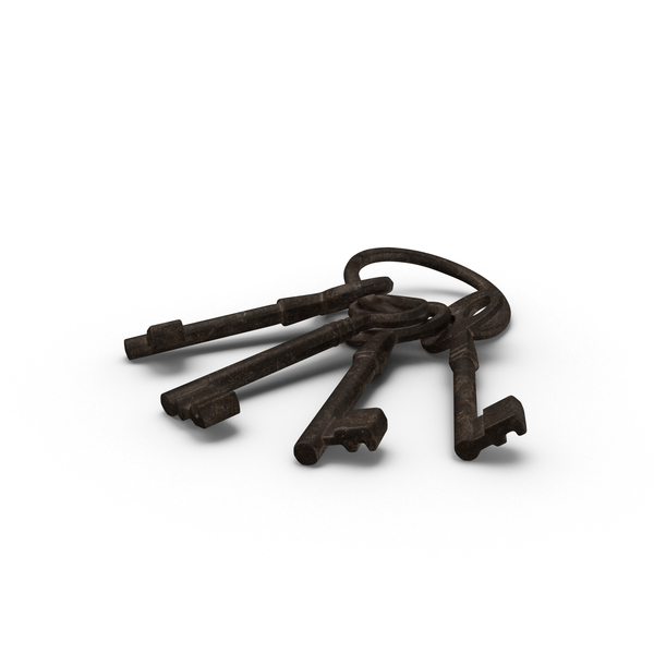 Old Skeleton Keys on Ring PNG & PSD Images