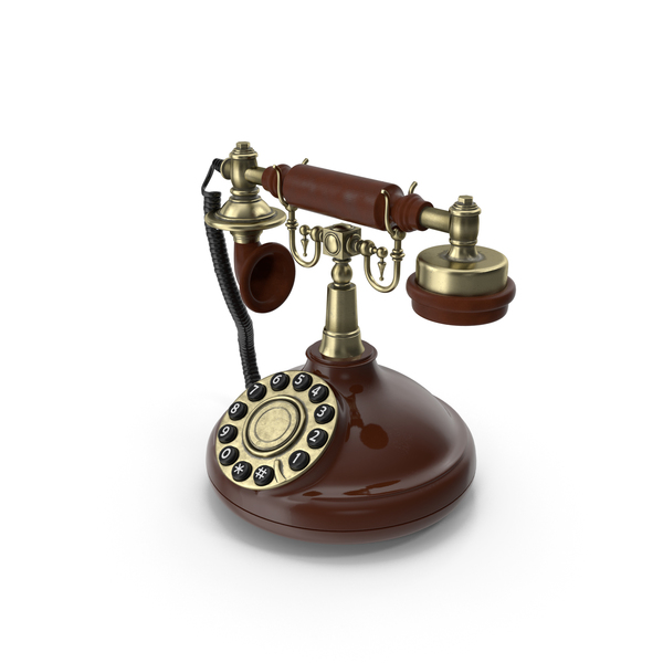 Phone: Old Telephone With Rotary Dial PNG & PSD Images