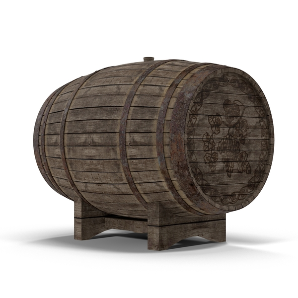 Old Wine Barrel Object