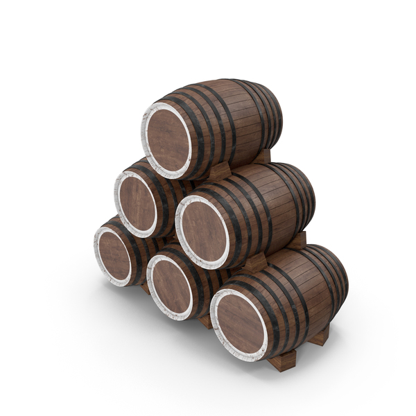 Old Wooden Barrels PNG & PSD Images
