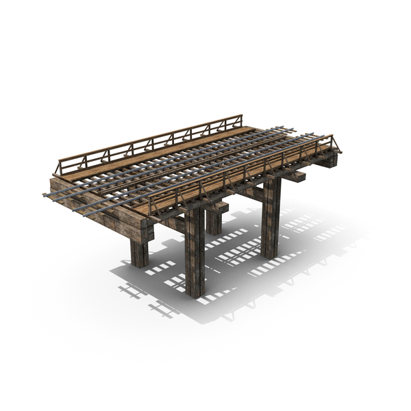 Old Wooden Railway Bridge PNG & PSD Images