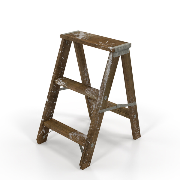 Old Wooden Step Ladder PNG & PSD Images