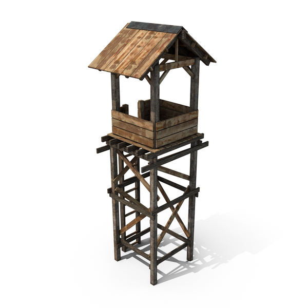 Old Wooden Tower PNG & PSD Images