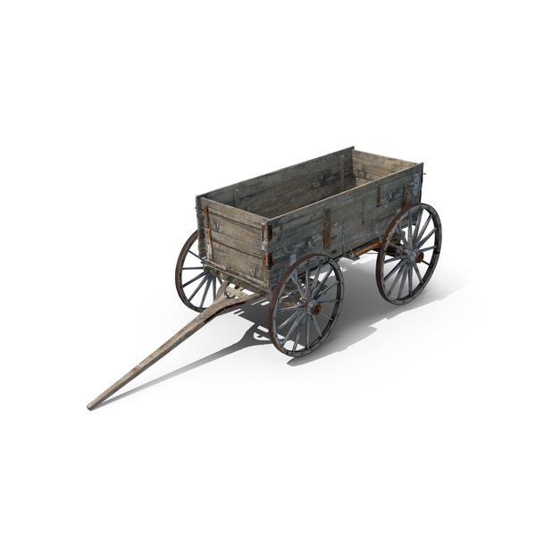 Old Wooden Wagon Object