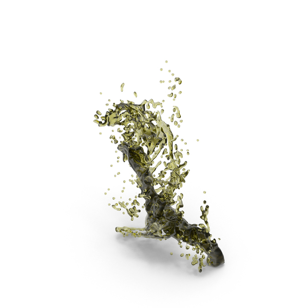 Olive Oil Splash PNG & PSD Images