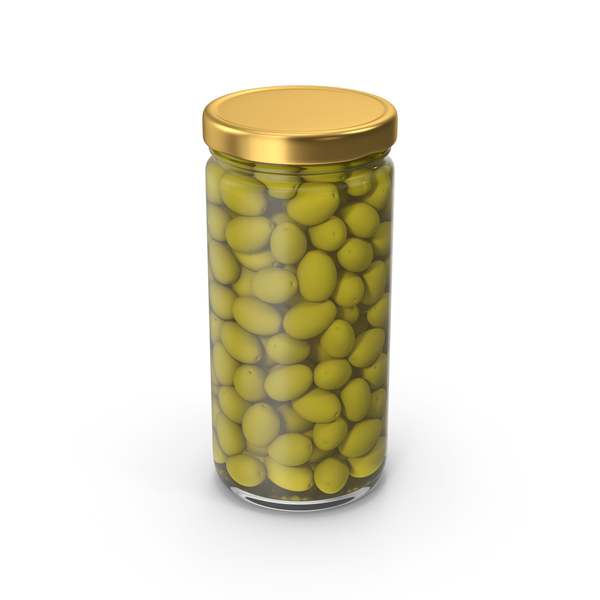 Olives Jar Gold PNG & PSD Images