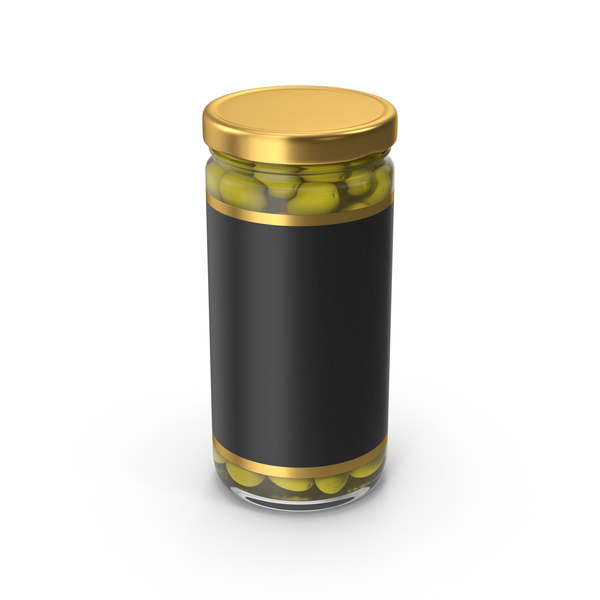 Olivies Jar Gold With Label PNG & PSD Images