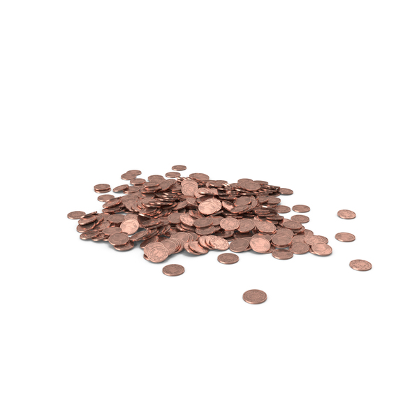 One Euro Cent Pile PNG & PSD Images
