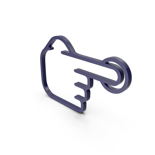 Cursor: One Finger Dark Blue Icon PNG & PSD Images