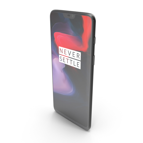 One Plus 6 Mirror Black PNG & PSD Images
