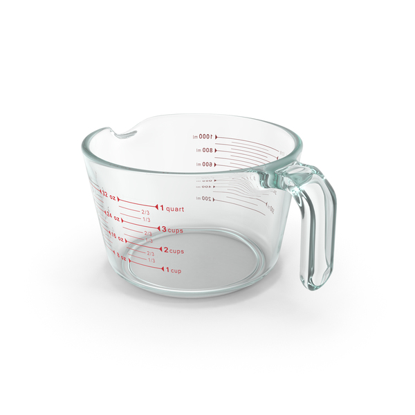 One Quart Glass Measuring Cup PNG & PSD Images