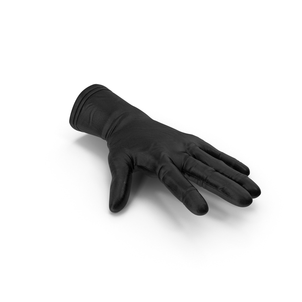 Open Black Leather Glove PNG & PSD Images