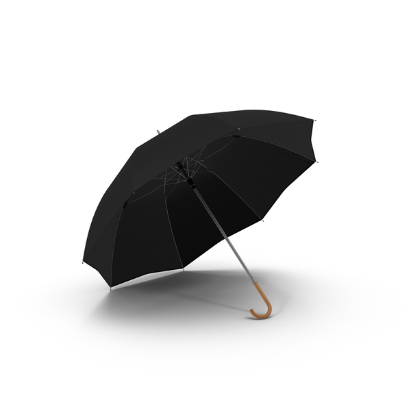 Open Black Umbrella PNG & PSD Images