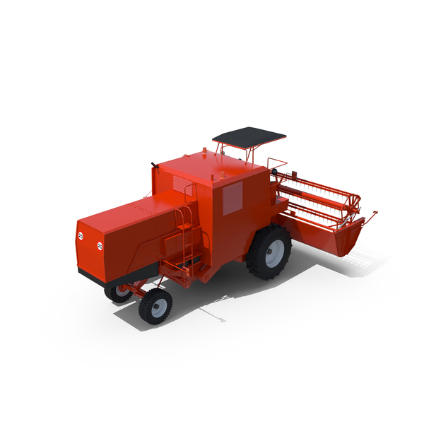 Open-Cab Combine Harvester PNG & PSD Images