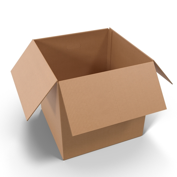 Open Cardboard Box Object