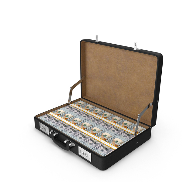 Briefcase Of Money: Open Case with Dollars PNG & PSD Images