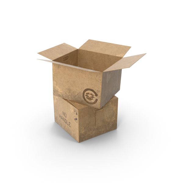 Open Empty Old Cardboard Boxes PNG & PSD Images