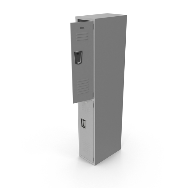 Open Grey Locker PNG & PSD Images