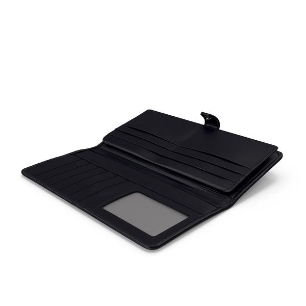 Open Long Wallet Black PNG & PSD Images