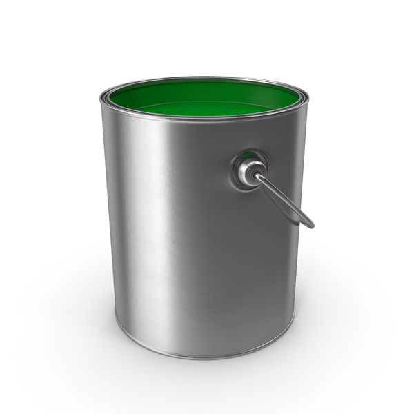 Open Metal Paint Can PNG & PSD Images