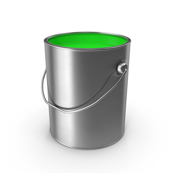 Open Metal Paint Can Green PNG & PSD Images