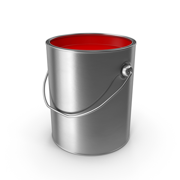 Open Metal Paint Can Red PNG & PSD Images