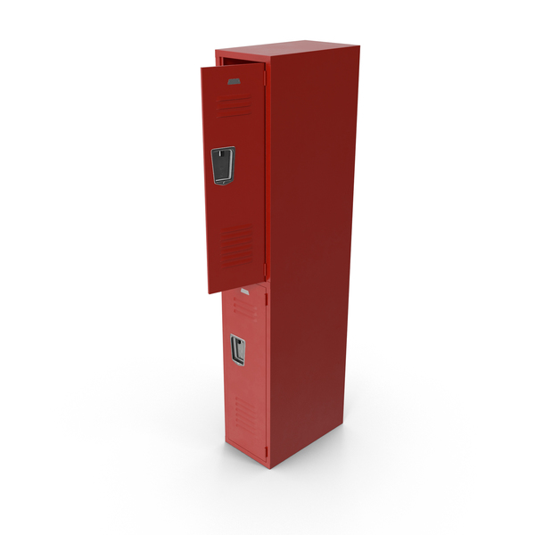 Open Red Locker Object