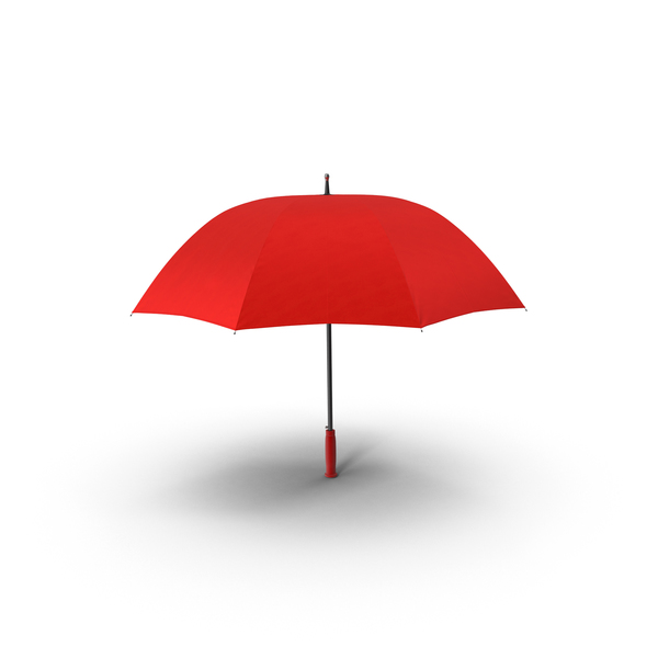 Open Red Umbrella Object