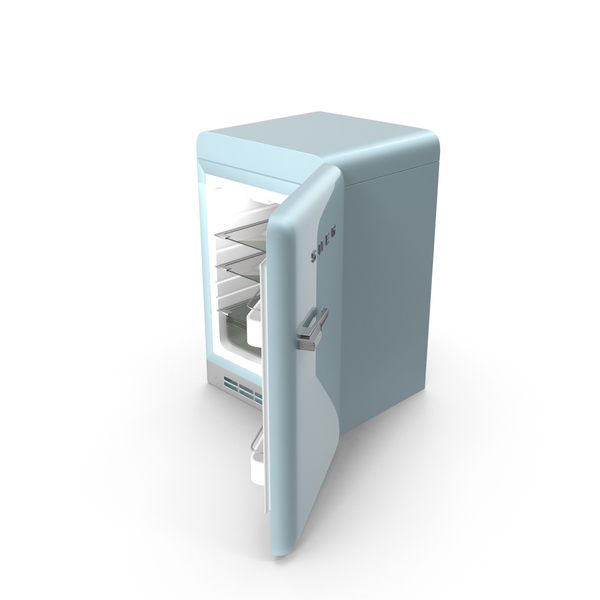 Open Refrigerator Blue PNG & PSD Images