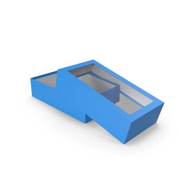 Opened Box Blue PNG & PSD Images