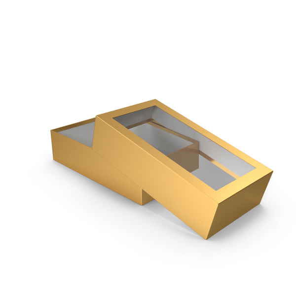 Gift: Opened Box Gold PNG & PSD Images