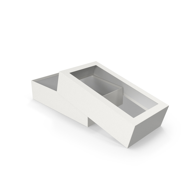 Opened Box Grey PNG & PSD Images