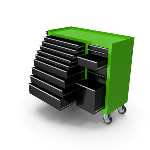 Opened Tool Box Green New PNG & PSD Images