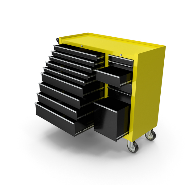 Opened Tool Box Yellow New PNG & PSD Images