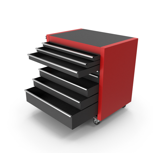 Opened Tool Roller Cabinet PNG & PSD Images
