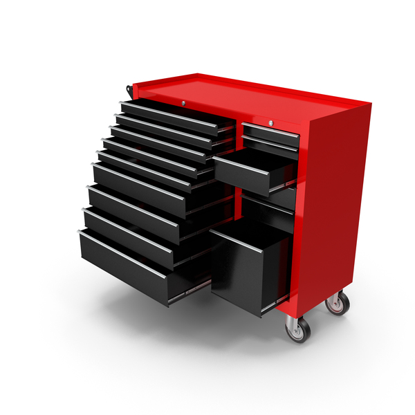 Opened ToolBox Red New PNG & PSD Images