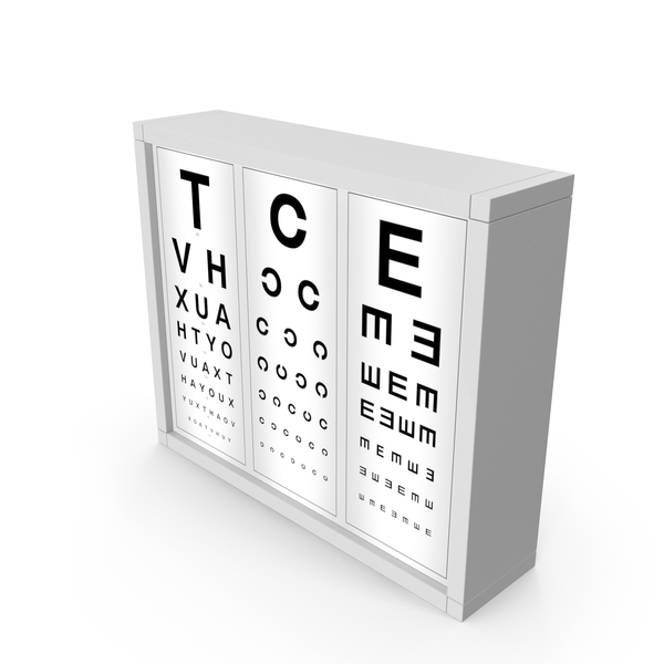 Optotype Medical Eye Chart PNG & PSD Images